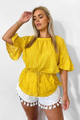 boohoo Plus Cotton Feel Stitched Detail Tunic Top