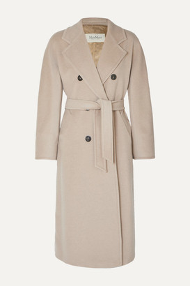 Max Mara Madame Belted Double-breasted Wool And Cashmere-blend Coat - Beige