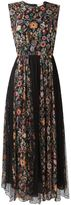 RED Valentino floral print pleated dress - women - Silk/Polyamide/Polyester - 42