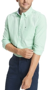 Tommy Hilfiger Men's Long-Sleeve Twain Gingham Check Classic Fit Shirt