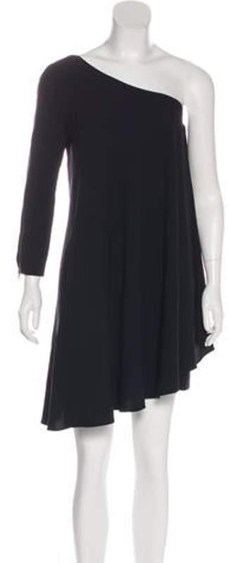 A.L.C. One-Shoulder Mini Dress Black One-Shoulder Mini Dress