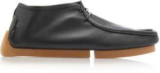 Bottega Veneta Leather And Rubber Ankle Boots