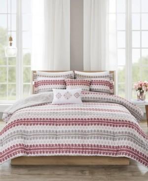 JLA Home 510 Design Neda Full/Queen 5 Piece Reversible Print Comforter Set Bedding