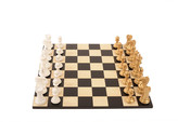 Purling London - Bold Chess Set - Metallic Gold - v Gloss White