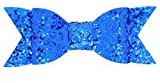 Sequin Barrettes Baby Child Toddlers Girls Newest Paillette Bowknot Hairpin With Clip Cute Big Hair Clips Accessories (Blue)