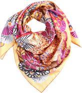 Salvatore Ferragamo Tiger & Floral Printed Silk Scarf