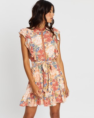 MinkPink Patchwork Paisley Mini Dress