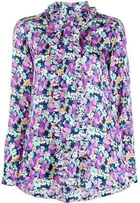 Plan C Floral Print Blouse