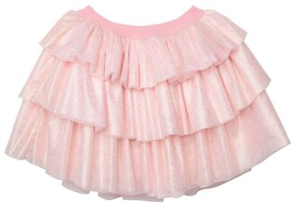 Charabia Metallic Tulle Tiered Skirt (3-12 Years)