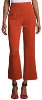 Narciso Rodriguez Wool High-Waist Cropped Straight-Leg Pants