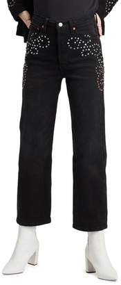 Levi's High-Rise Studded Jeans