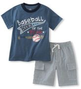 Kids Headquarters Little Boys Rookie of the Year Tee and Shorts Set