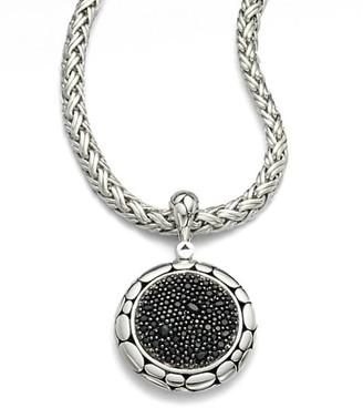 John Hardy Kali Black Sapphire & Sterling Silver Lava Enhancer