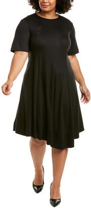 Lafayette 148 New York Plus Aveena Wool Midi Dress