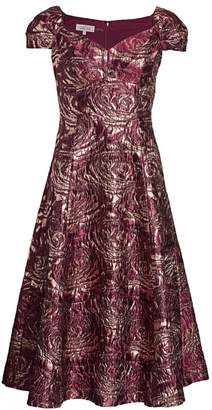 Teri Jon By Rickie Freeman Brocade Fit & Flare Dress