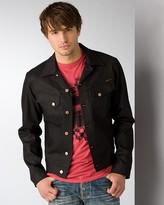 "Nudie Jeans Conny"" Dry Black Coated Jacket"