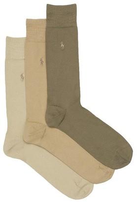 Polo Ralph Lauren Big & Tall Super Soft Knit Dress Socks 3-Pack