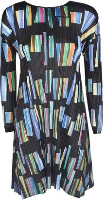 Pleats Please Issey Miyake Hopscotch Colors Dress