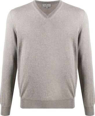Canali V-neck long-sleeved jumper