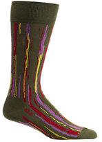 Ozone Men's Stripe Overlap Socks (2 Pairs)