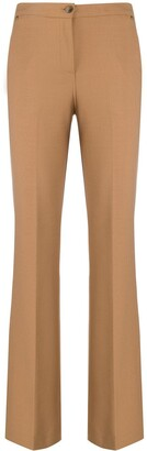Twin-Set High-Waisted Slim-Fit Trousers