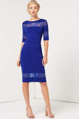 Paper Dolls Outlet Blue Lace Insert Dress