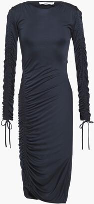 Safiyaa Cutout Ruched Jersey Dress