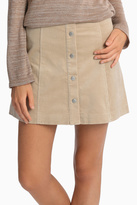 Glamorous Cord Button Front A Line Skirt
