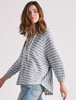 Lucky Brand Stripe Hooded Poncho