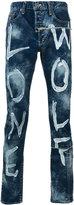 Miharayasuhiro paint-effect printed jeans - men - Cotton - 46