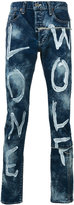 Miharayasuhiro paint-effect printed jeans