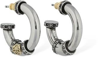 Alexander McQueen Seal Creole Hoop Earrings