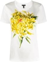 Escada floral print slim-fit T-shirt