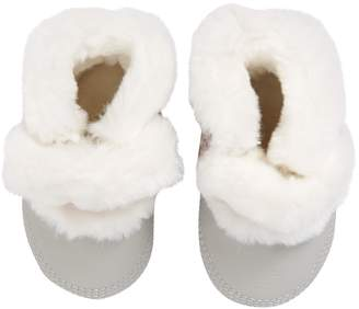 Robeez Montana Faux Fur Lined Crib Shoe