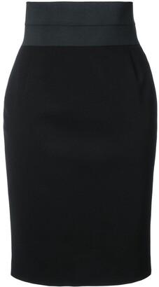 Akris Punto fitted high-waist pencil skirt