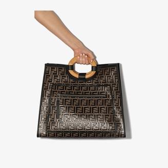 Fendi brown Runaway leather tote bag