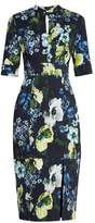 Erdem Davina Hasu Night-print cotton-blend twill dress