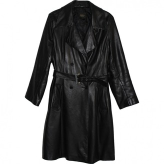 Non Signé / Unsigned Non Signe / Unsigned Black Leather Trench coats