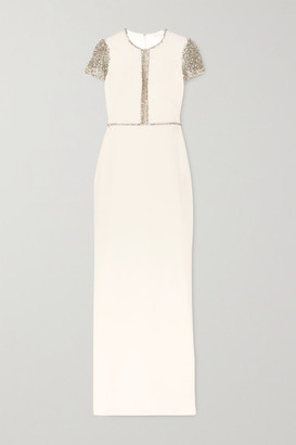 Jenny Packham Cosmo Embellished Tulle And Cady Gown - Ivory