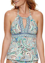 Liz Claiborne Paisley Tankini Swimsuit Top