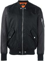 Diesel tonal sleeve bomber jacket - men - Polyester/Nylon - S