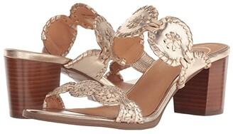 Jack Rogers Lauren Mid Heel (Platinum/Platinum) Women's Shoes