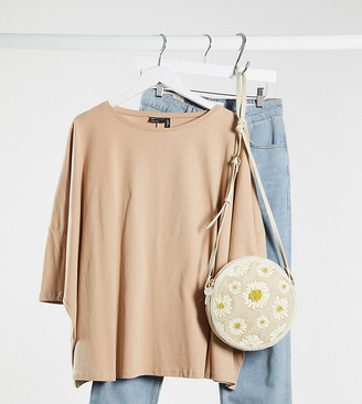 ASOS DESIGN Maternity slouchy top with batwing sleeve in neutral