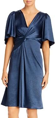Elie Tahari Silvana Sleeveless Printed Twist-Front Dress