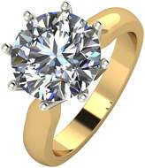 Moissanite 9ct Gold 4ct eq Solitaire Ring