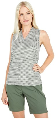 Puma Cloudspun Speckle Sleeveless Polo (Thyme) Women's Clothing