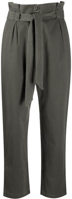 AllSaints Belted Cropped Leg Trousers