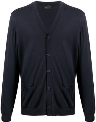 Roberto Collina V-Neck Fine Knit Cardigan