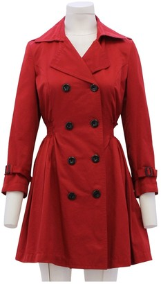 Dolce & Gabbana Red Cotton Trench Coat for Women