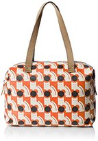 Orla Kiely Poppy Cat Print Zip Shopper Tote Bag